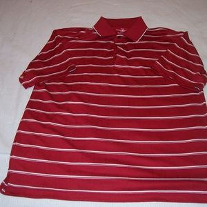 Grand Slam Red and White stripe Golf Polo Shirt